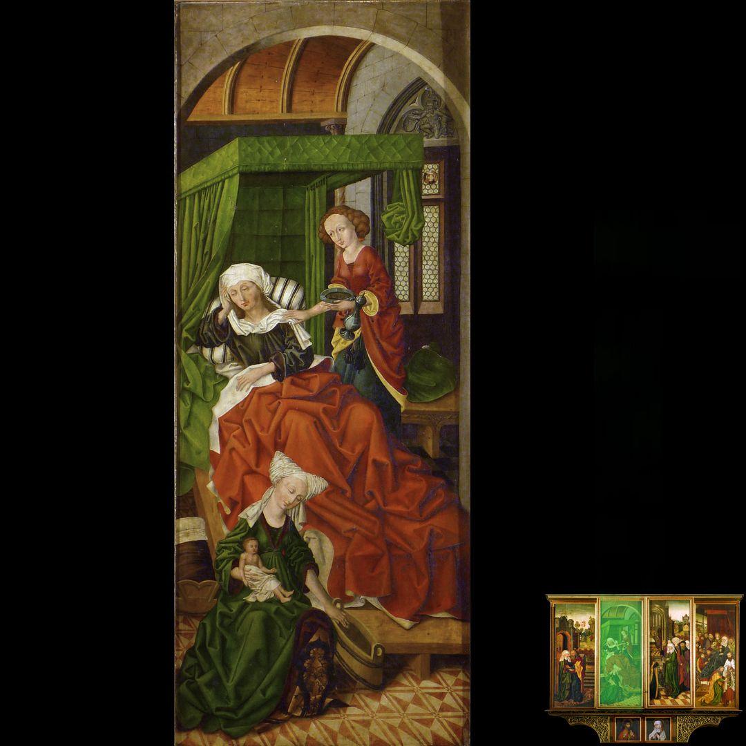 Peringsdörffer Retabel 2. Wandlung, Geburt Marias
