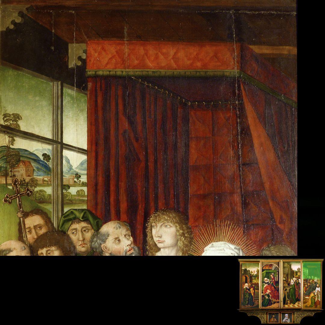 Peringsdörffer Retabel 2. Wandlung, Tod Mariens, Detail
