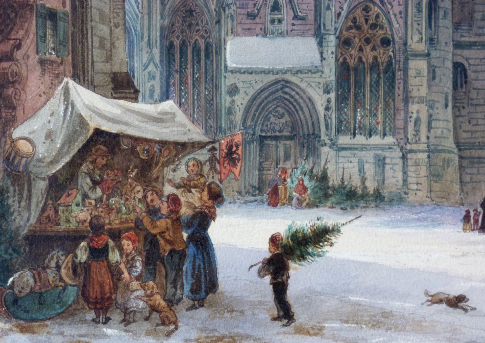 St. Sebaldus-Church with mit Moritz-Chapel and vicarage Christmas stall