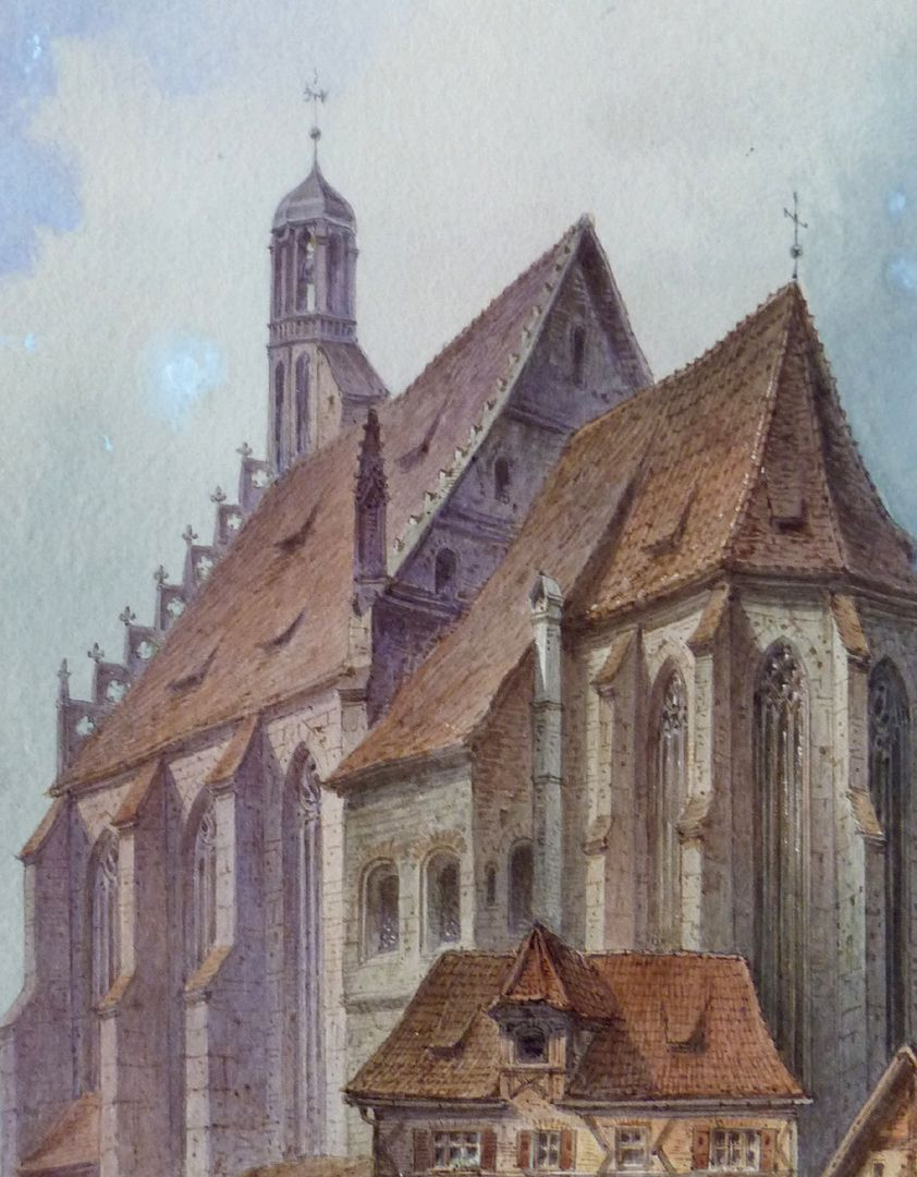 Our Lady´s Church (Frauenkirche) with Obstmarkt Detail