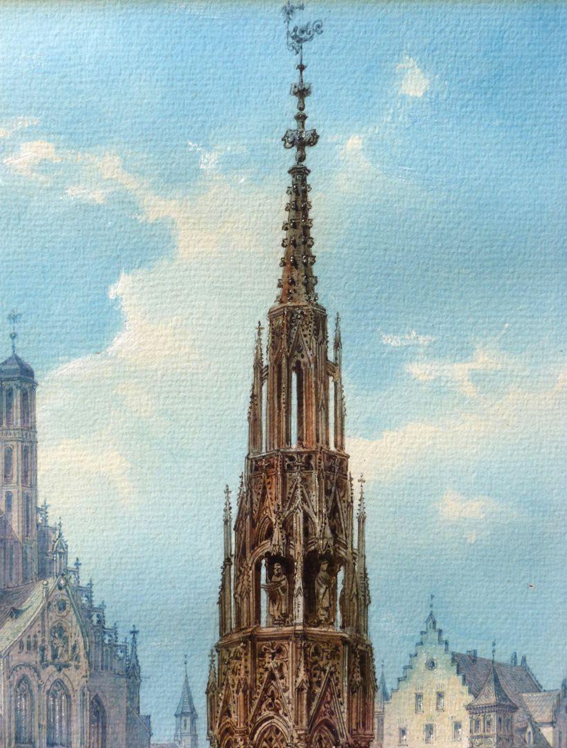 The Beautiful Fountain in Nuremberg Fountain top
