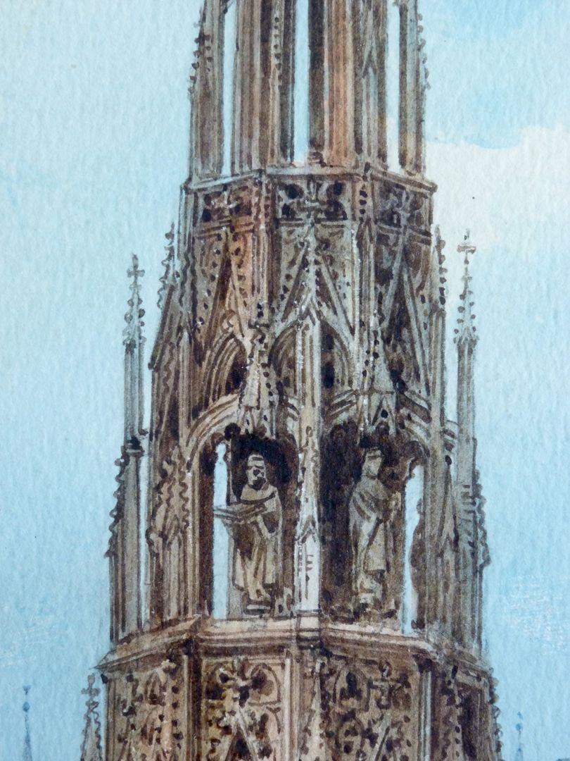 The Beautiful Fountain in Nuremberg Detail