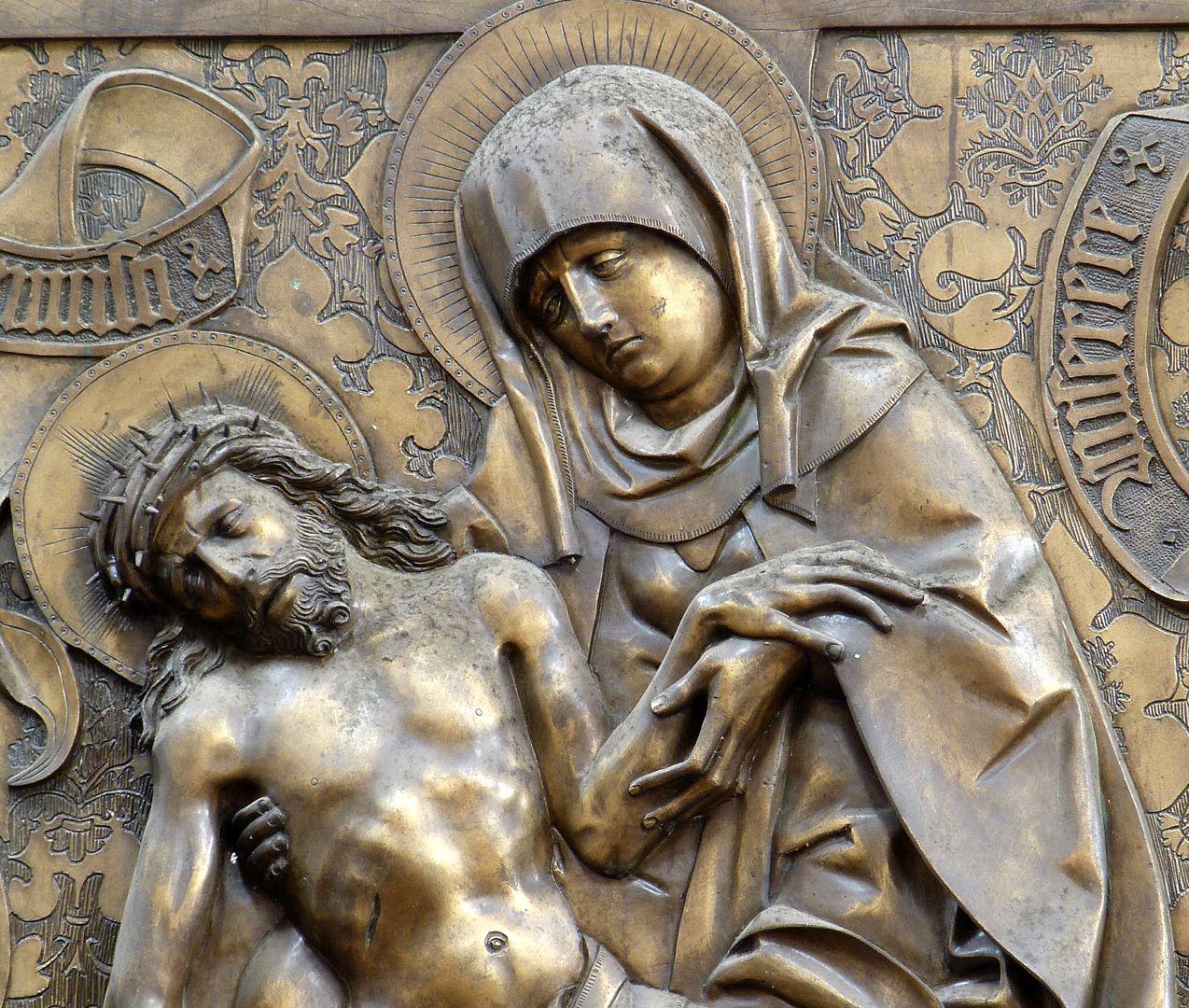 Johannes von Hürnheim und Albrecht von Rechenberg Beweinung Christi, Detail