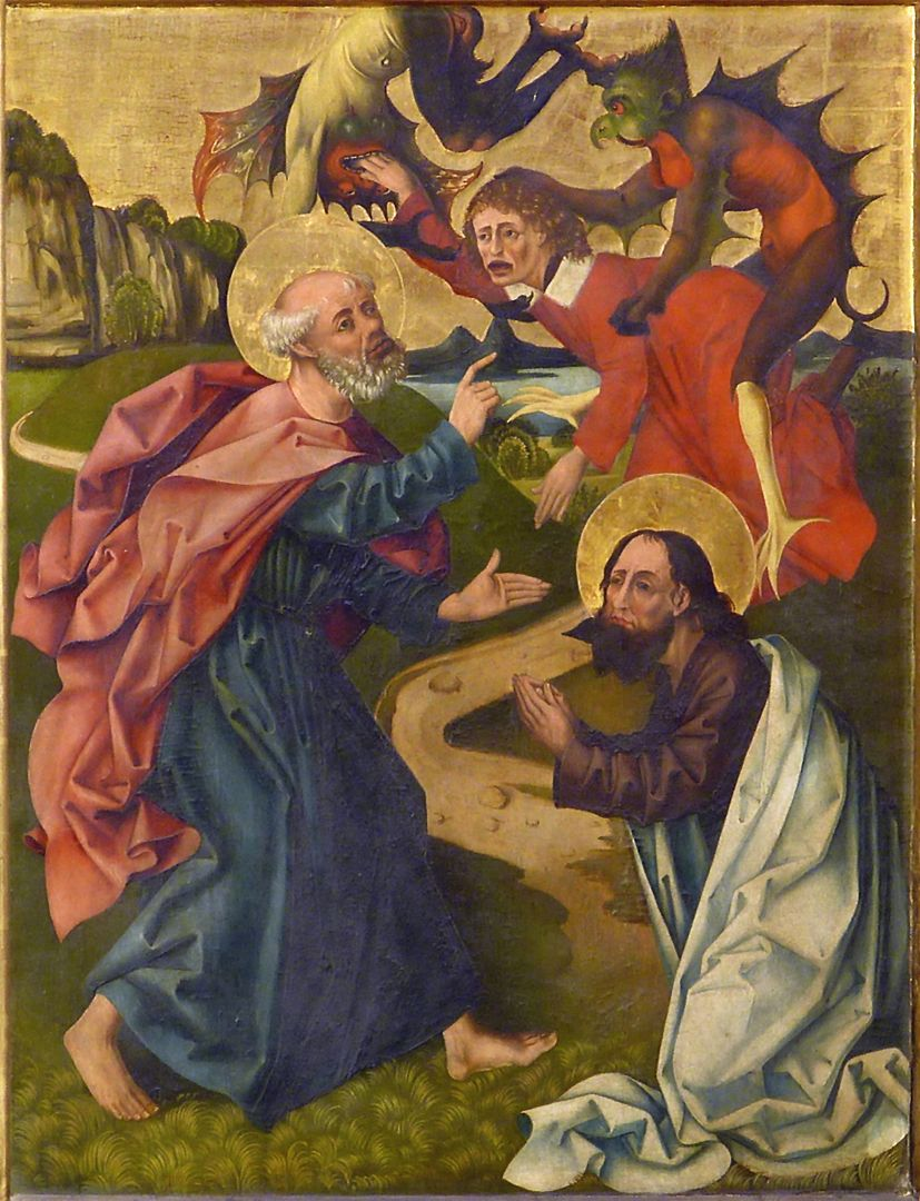 Peter´s Altar Right wing below, Peter and Paul overcoming the magician Simon
