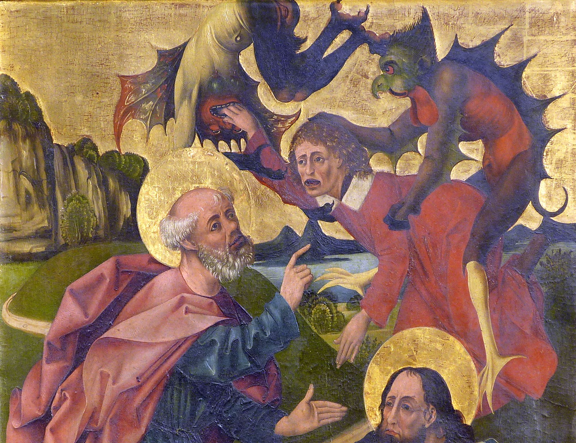 Peter´s Altar Right wing below, Peter and Paul overcoming the magician Simon, upper half of the picture
