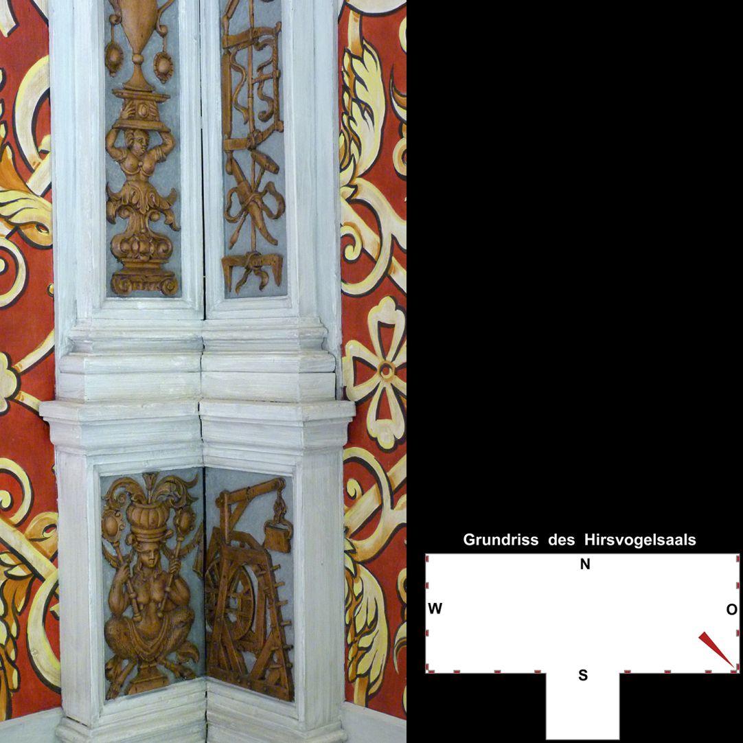 Pilasterabfolge im Hirsvogelsaal Detail der pilasterbesetzten Ecke