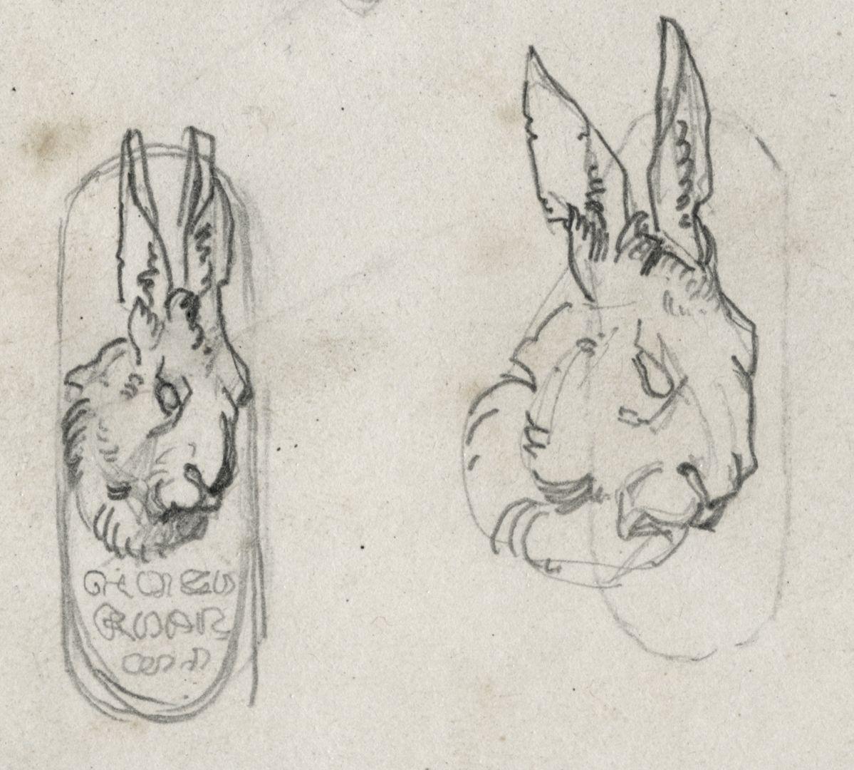 Hello, little finch two rabbit heads
