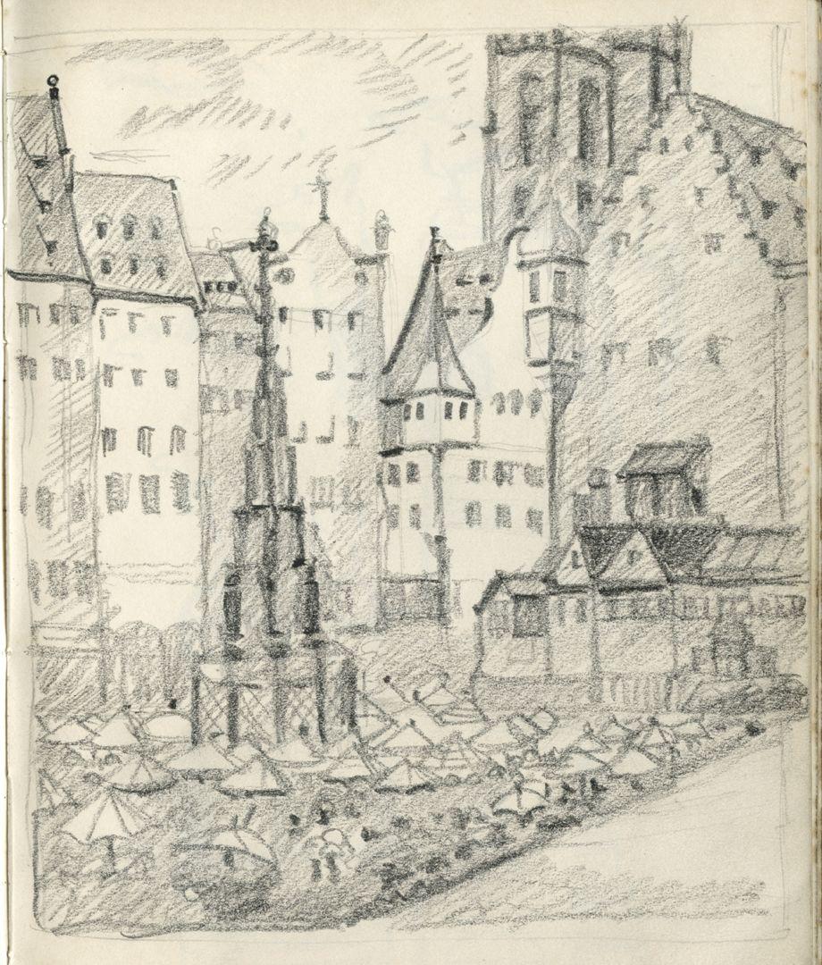 Sketch books Hauptmarkt mit Schönem Brunnen