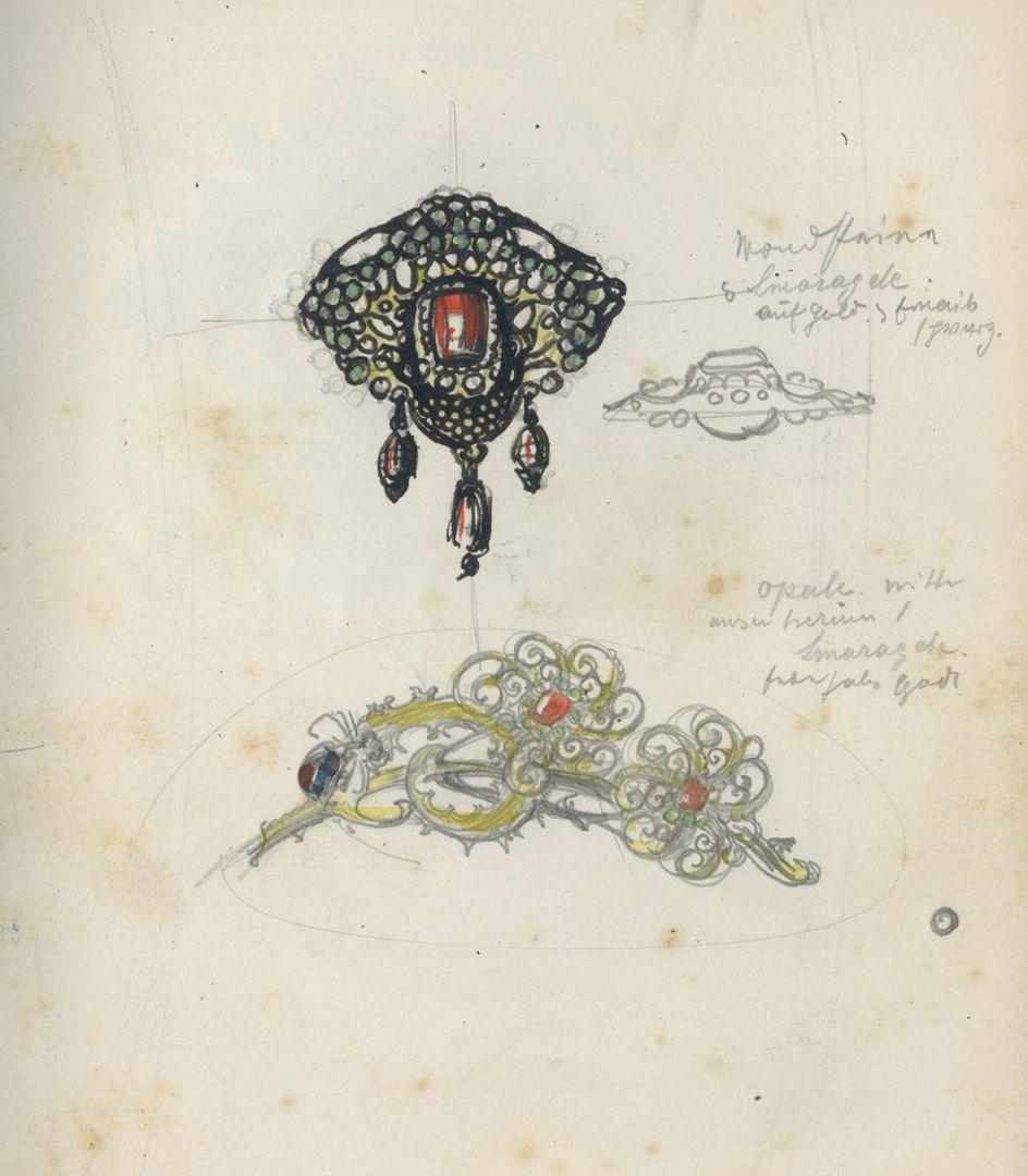 Sketch books Jewellery design