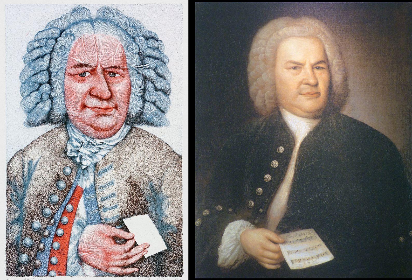 Johann Sebastian Bach Bach by Prechtl and his model by Elias Gottlob Haußmann from 1746