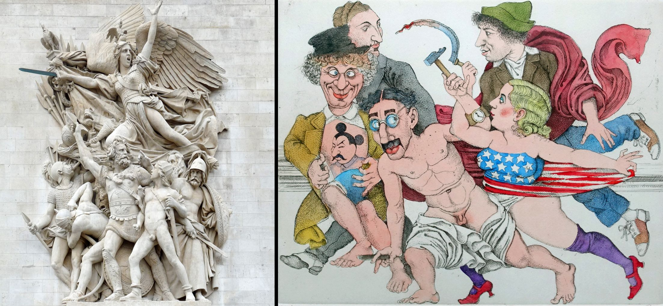 The Marx-Brothers in Moscow Image comparison with a work by Antoine Étex on the Arc de Triomphe