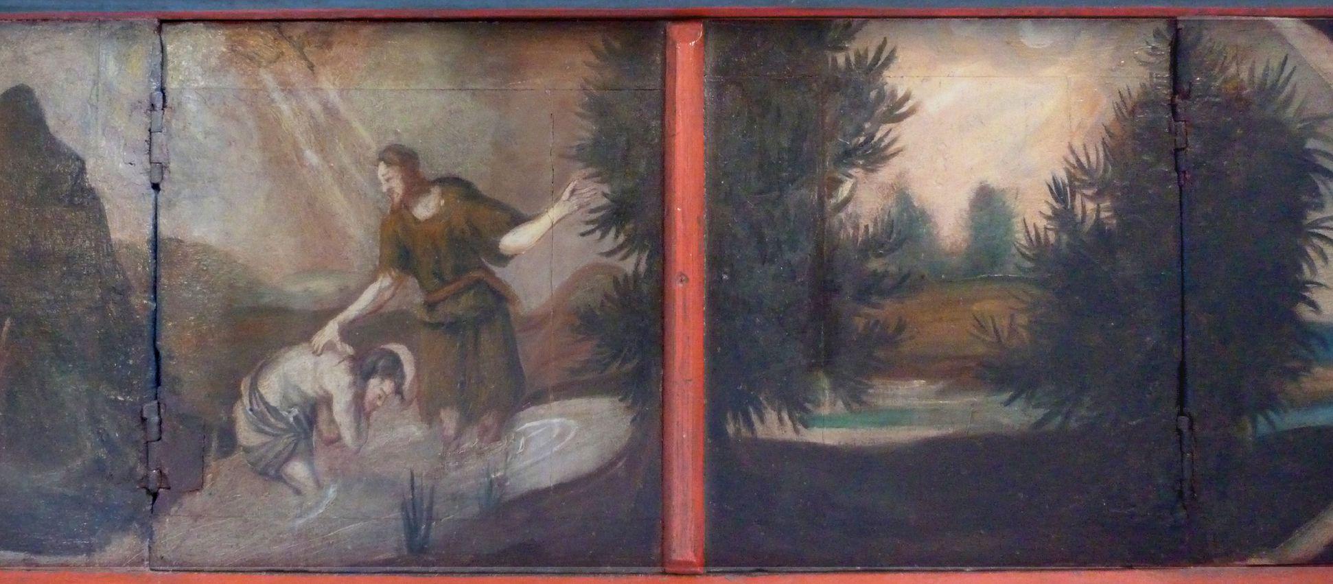 Puschendorfer Marienaltar geschlossene Predella, Taufe Jesu aus dem 18. Jh