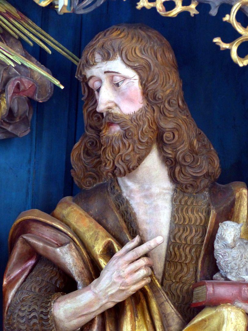 Puschendorfer Hochaltarretabel Hauptschrein, Johannes der Täufer, Büste