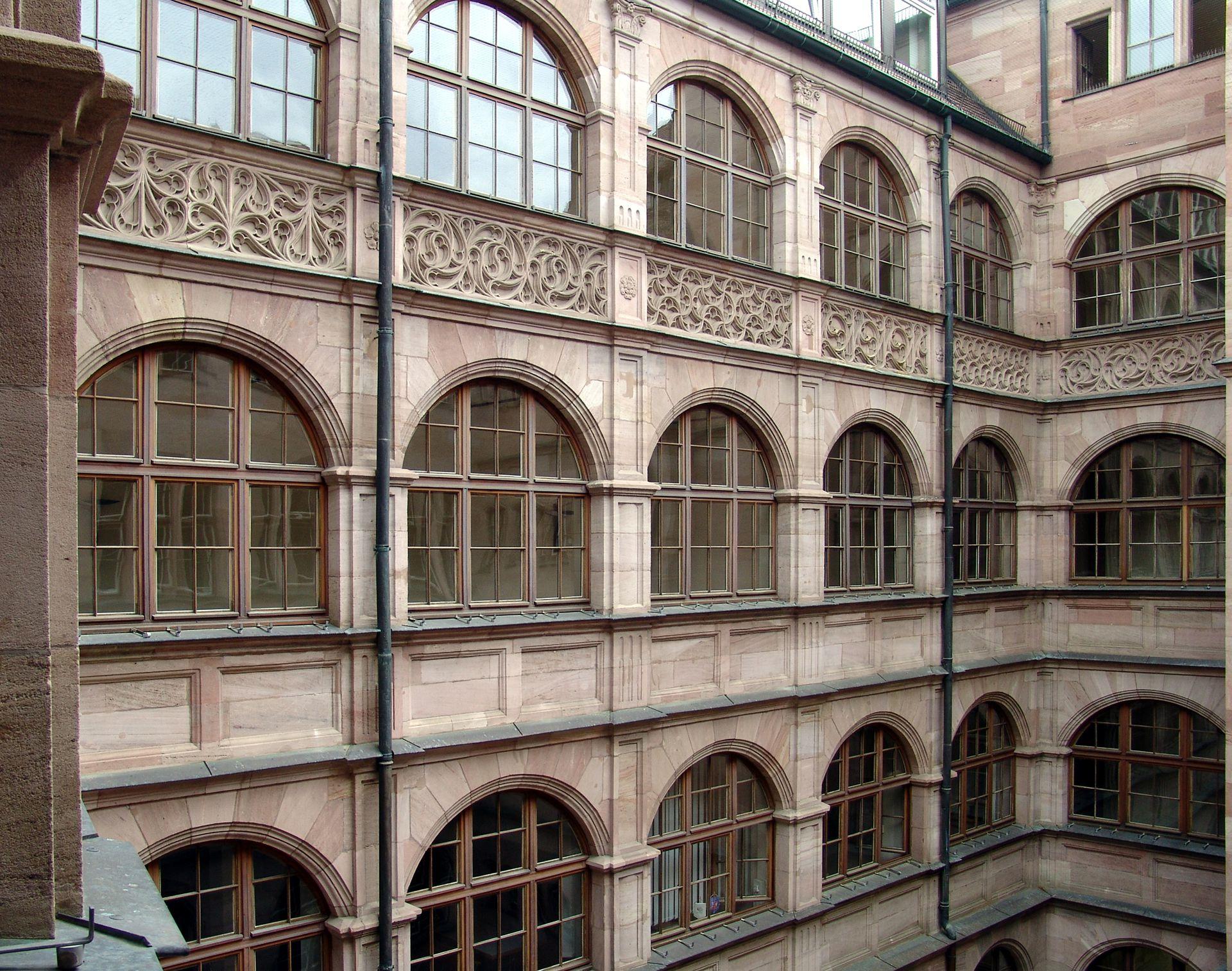 Central administration office Arkadenhof im Neu-Nachgotischen Stil