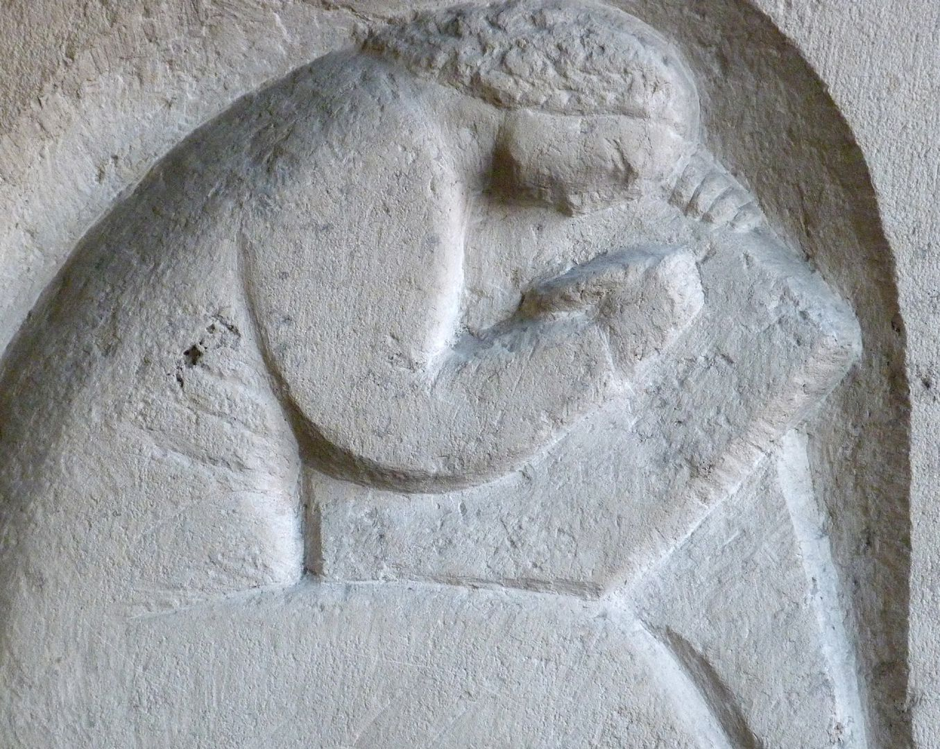 Writing woman Detail