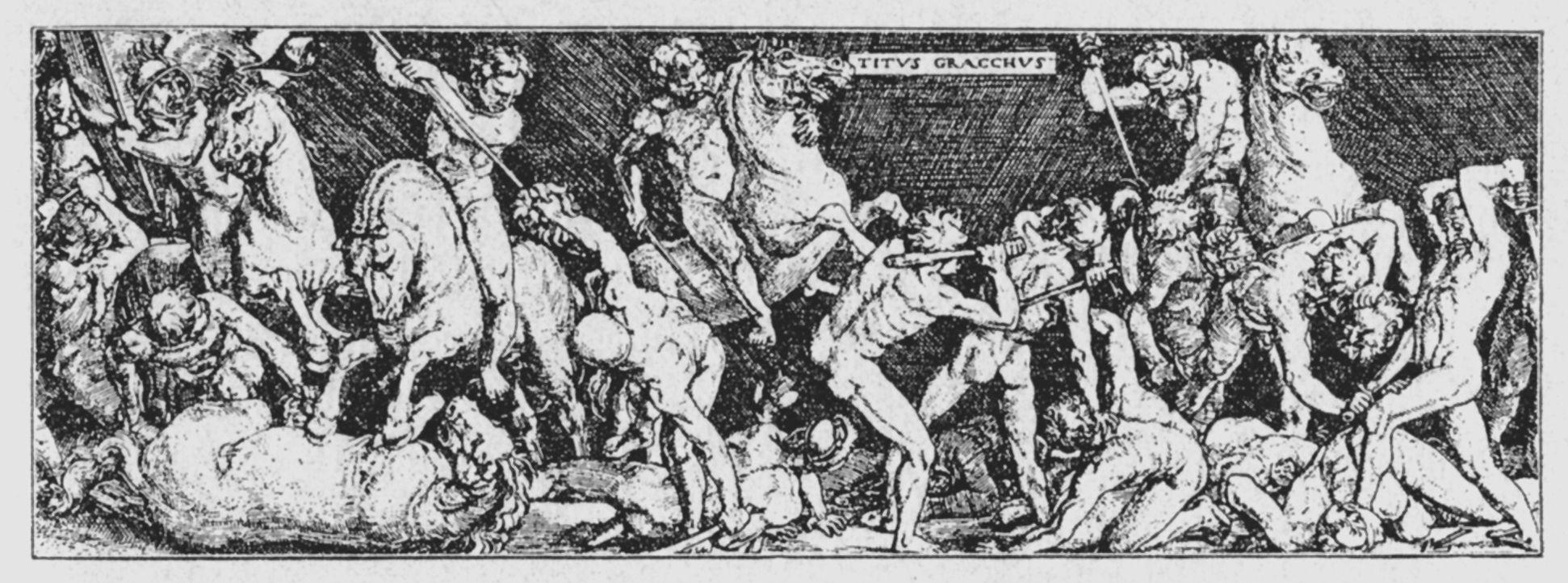 Cavalry battle (Titus Gracchus, Detail)