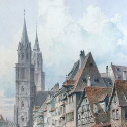 Königstraße with St. Lorenz-Church