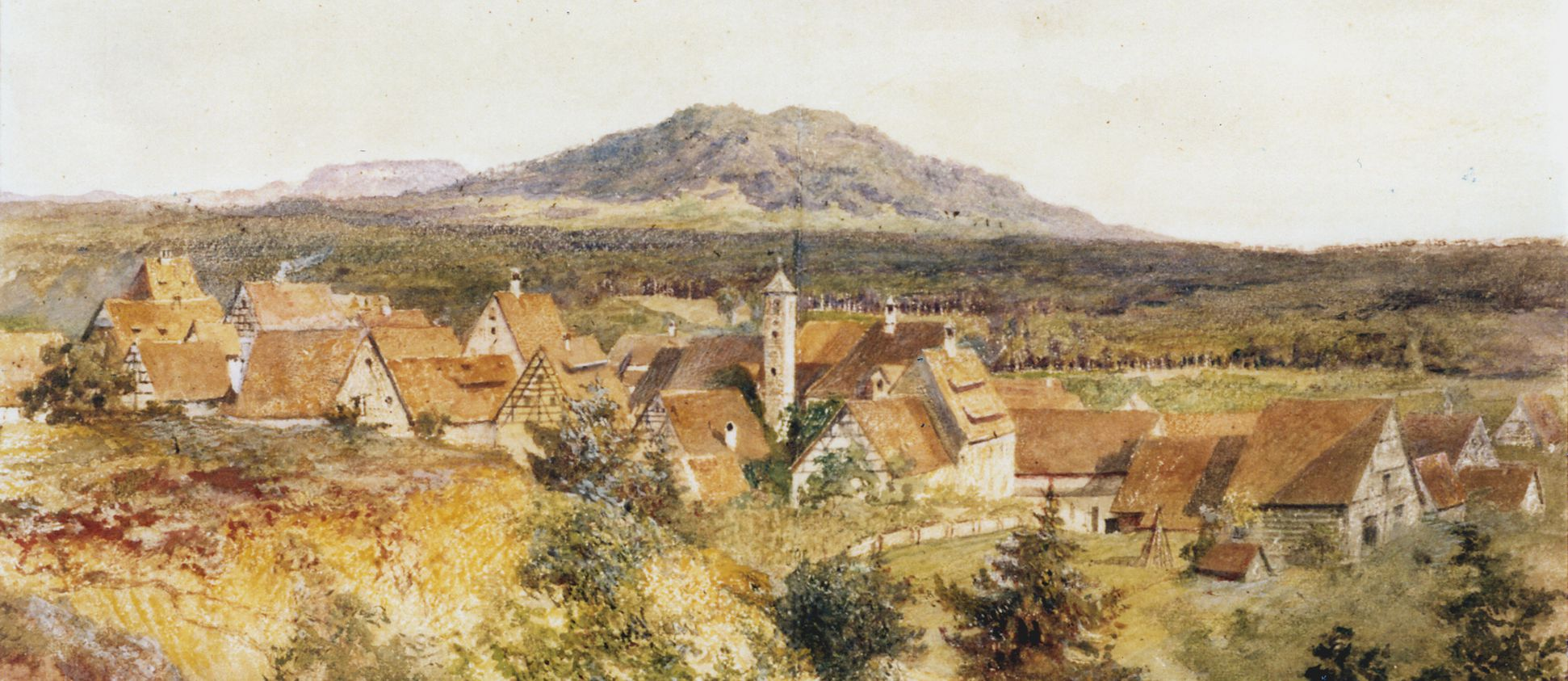 Rückersdorf with Moritz Hill (Moritzberg) Upper half of the picture