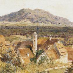 Rückersdorf with Moritz Hill (Moritzberg)