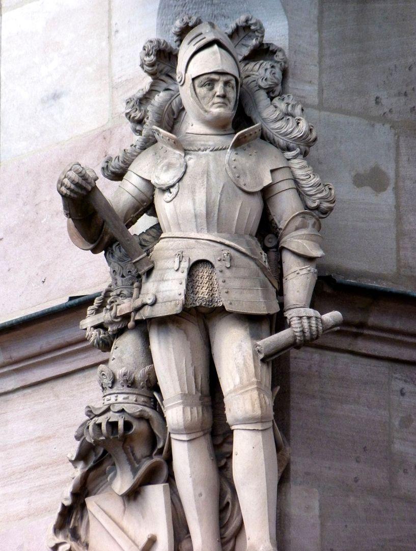 Knight Kreß of Kressenstein Front view, detail