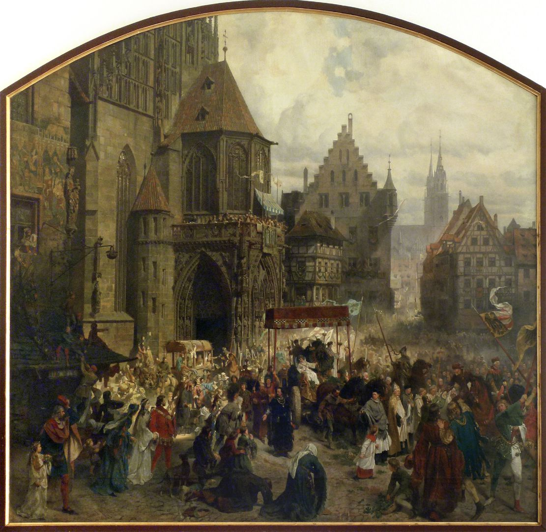 The transfer of the Imperial Regalia in Nuremberg on 22nd March 1424 Total view