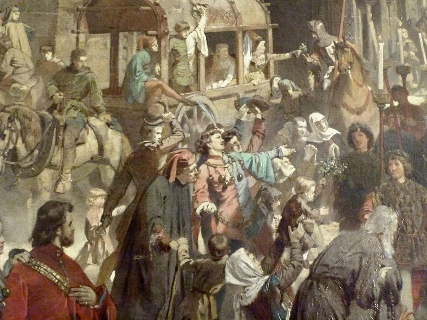 The transfer of the Imperial Regalia in Nuremberg on 22nd March 1424 Detail view, in front of Our Lady´s Church