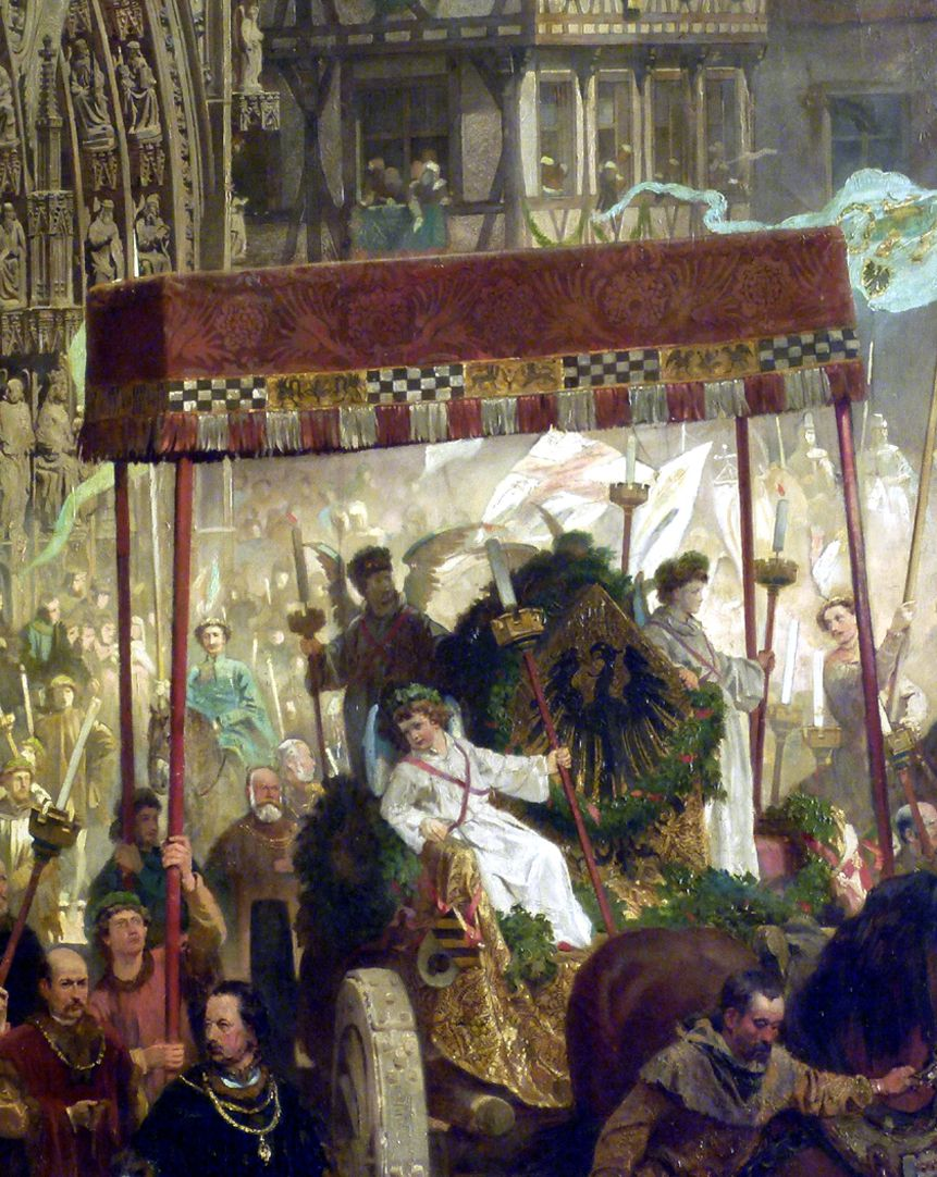 The transfer of the Imperial Regalia in Nuremberg on 22nd March 1424 Canopy
