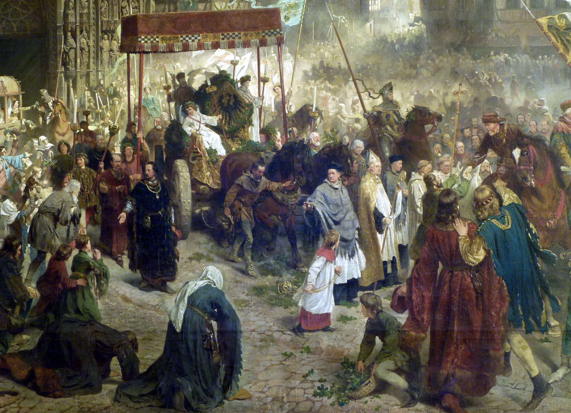 The transfer of the Imperial Regalia in Nuremberg on 22nd March 1424 Procession