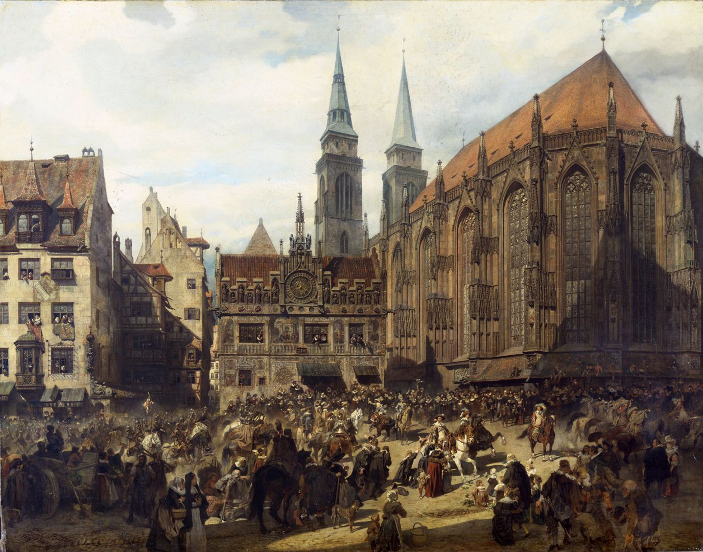 The old show at Nuremberg at the time of Gustav Adolf's entry on 21 March 1632. Art Collections of the City of Nuremberg, inventory no. Gm neu 0734