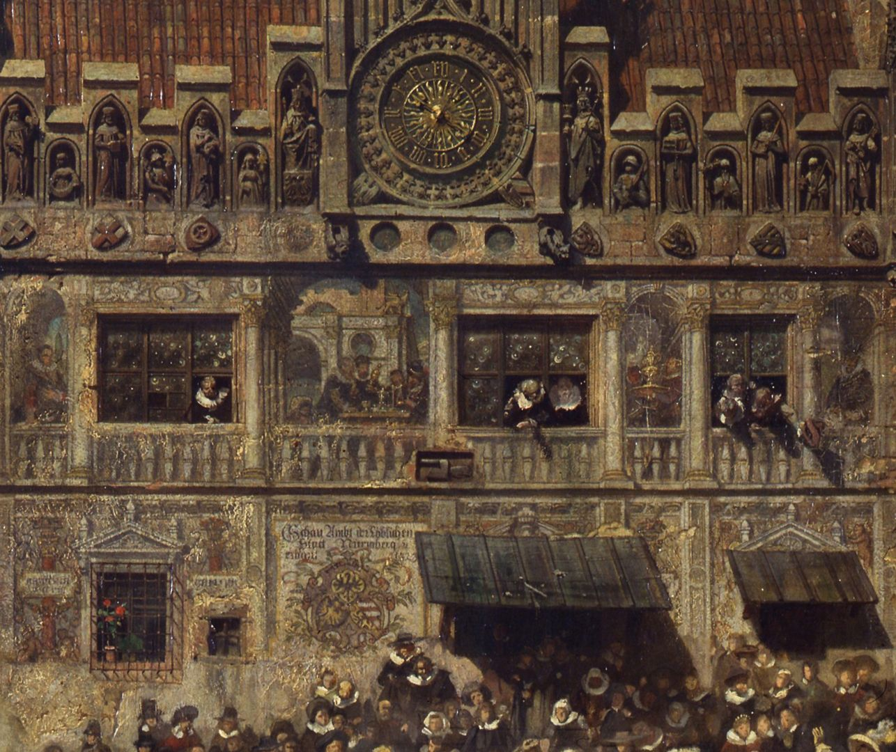 The old show at Nuremberg at the time of Gustav Adolf's entry on 21 March 1632. The old show, an official institution for the testing of precious metals, detail