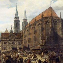 The old show at Nuremberg at the time of Gustav Adolf's entry on 21 March 1632.