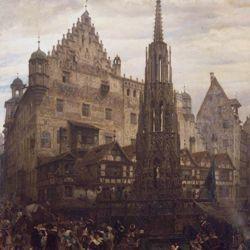 The Beautiful Fountain in Nuremberg in 1632