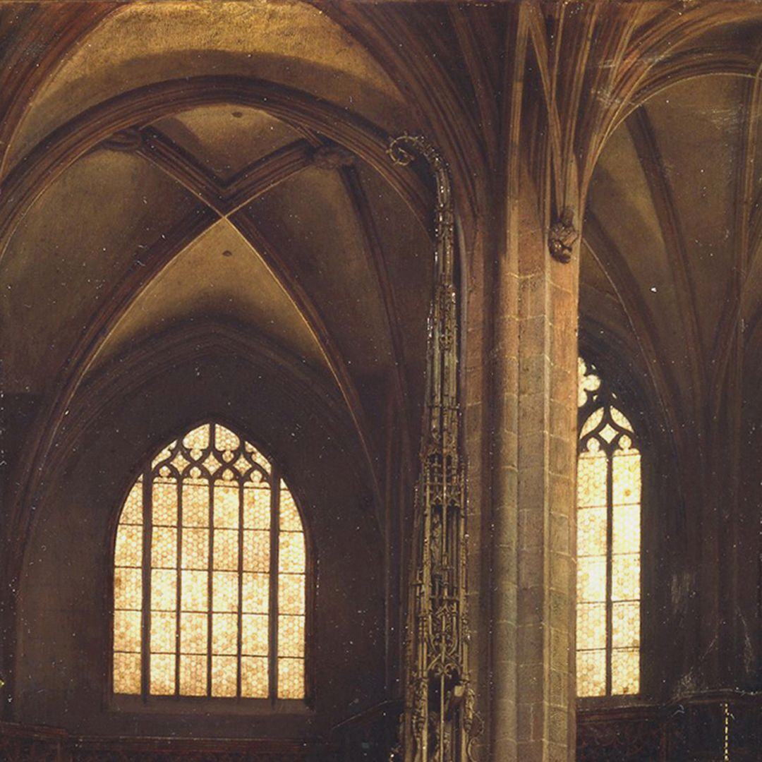 The Sacrament House (Tabernacle) by Adam Kraft in the Lorenzkirche Top of the sacrament house and the vaulting