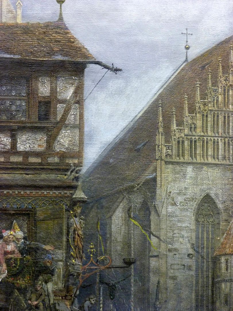 The Market Place in Nuremberg at the time of the tournament of 1496 Detail