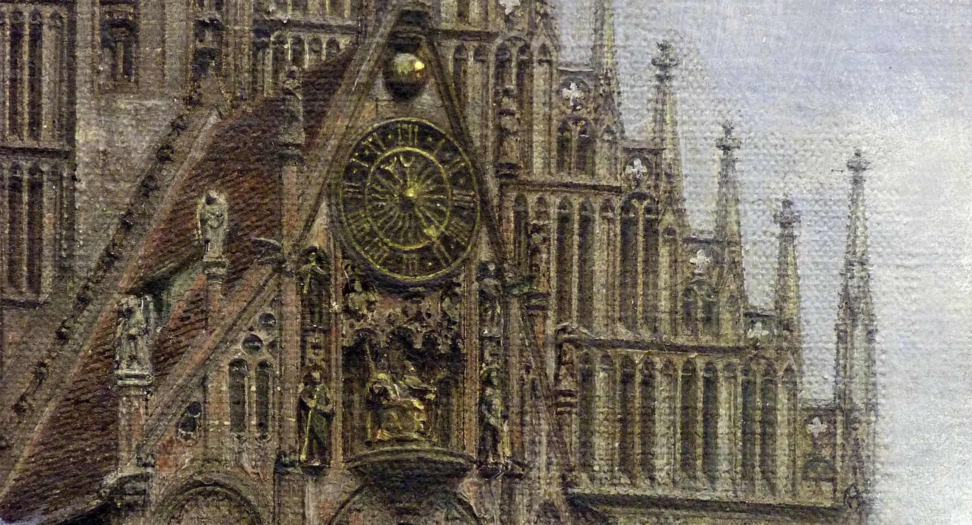 The Market Place in Nuremberg at the time of the tournament of 1496 Michael´s choir, detail