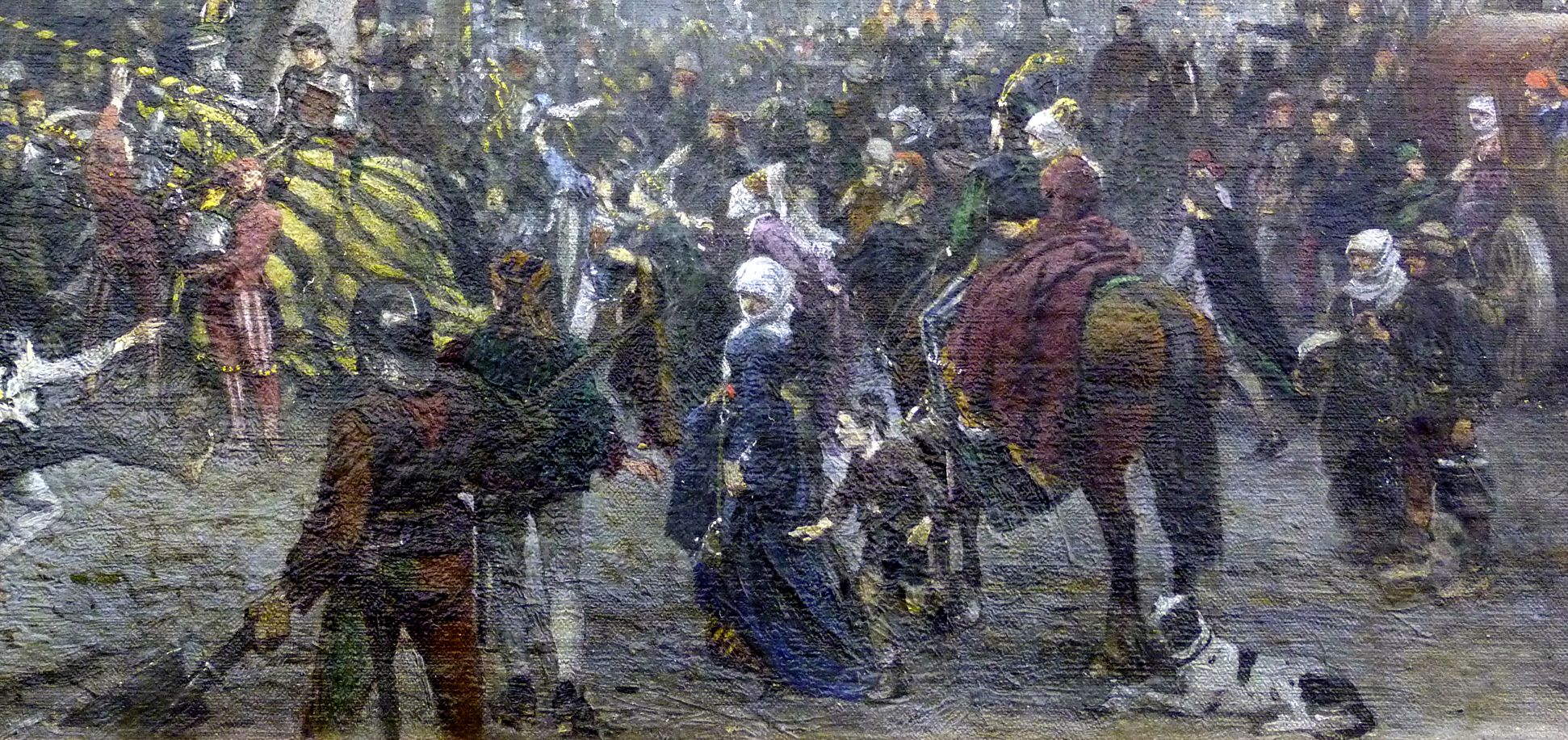 The Market Place in Nuremberg at the time of the tournament of 1496 Tournament knights, onlookers