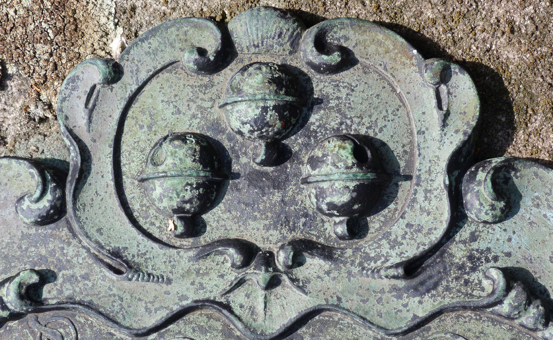 Epitaph auf Grab N 140, Rochusfriedhof Detail