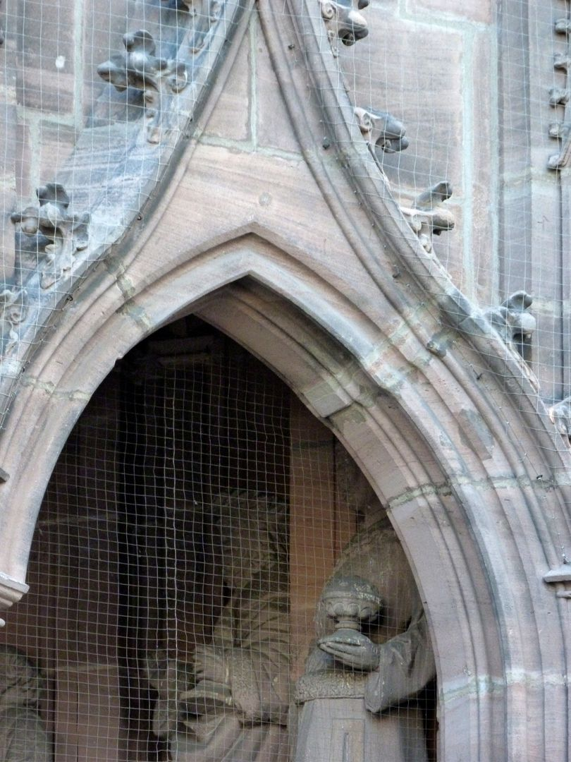 Bridal Portal Right arcade, detail with the construction error