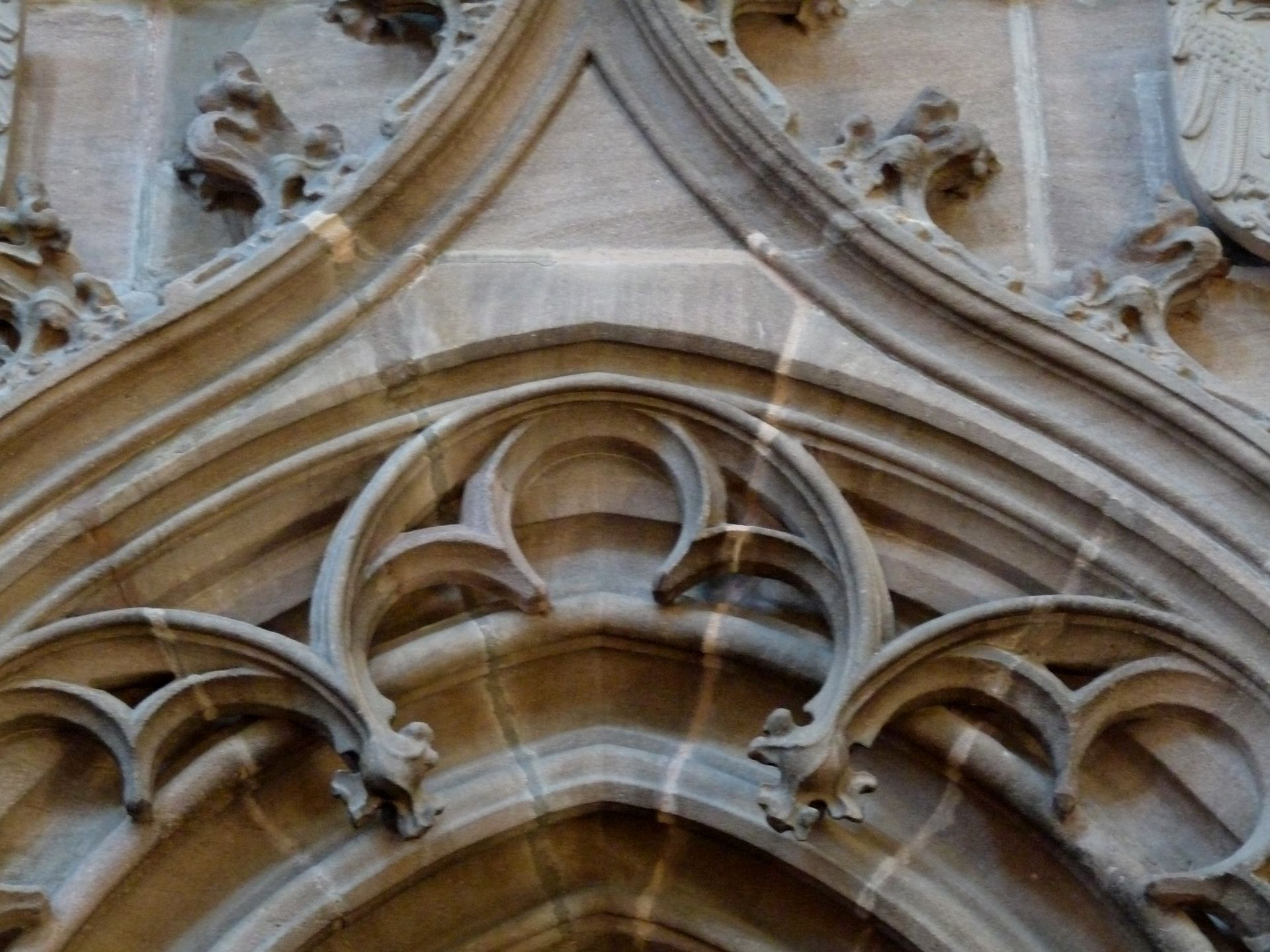 Vestry portal Detail of the arch cornice