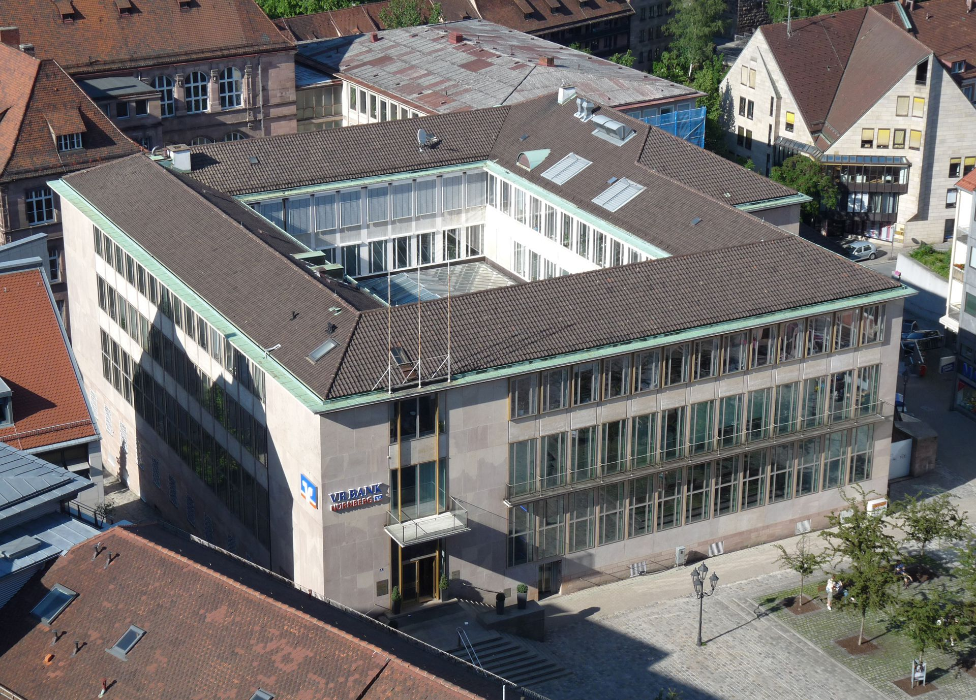 Former Bavarian State Bank View from above
