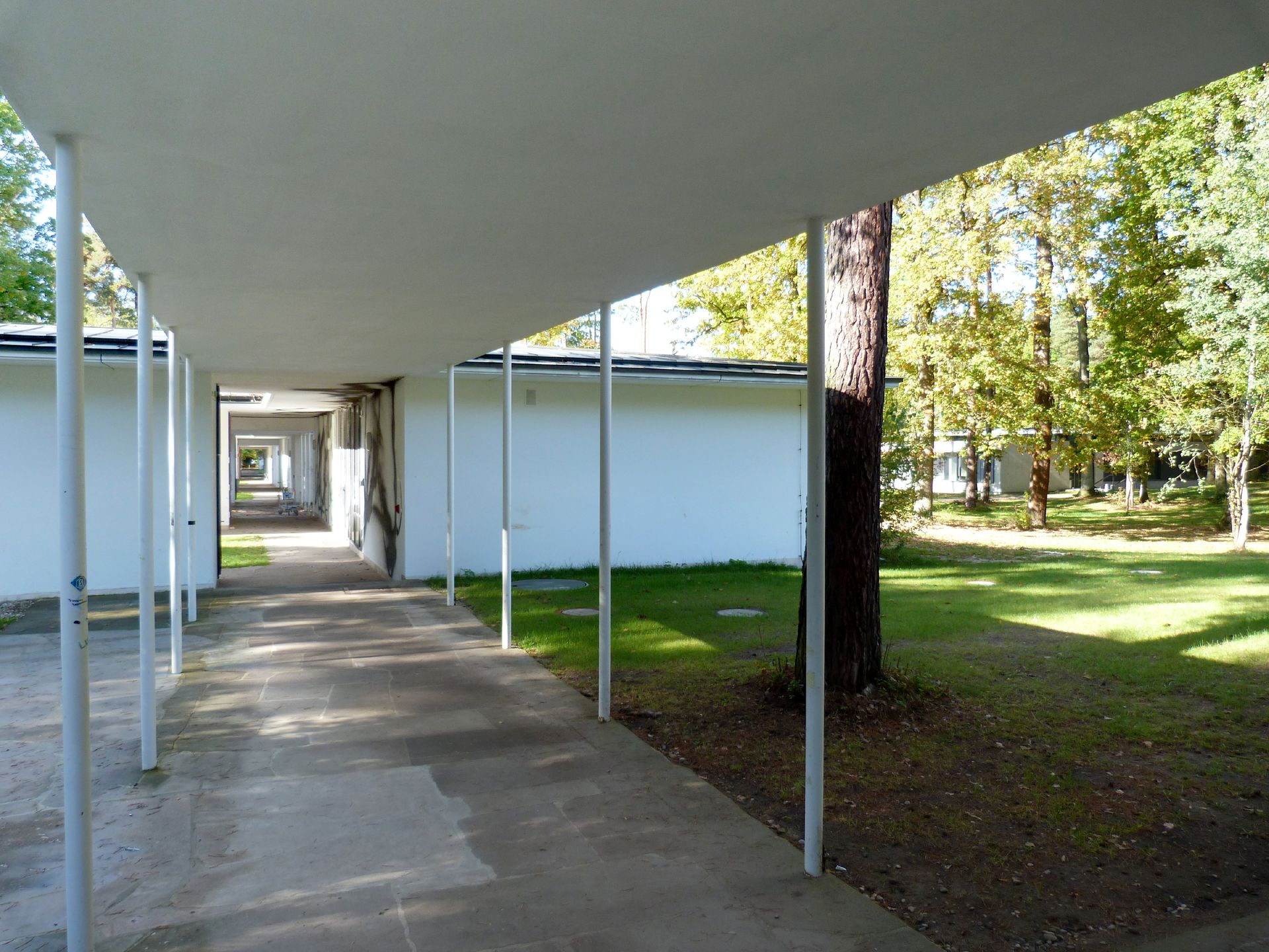 Academy of Fine Arts Walkway to the workshop pavilions
