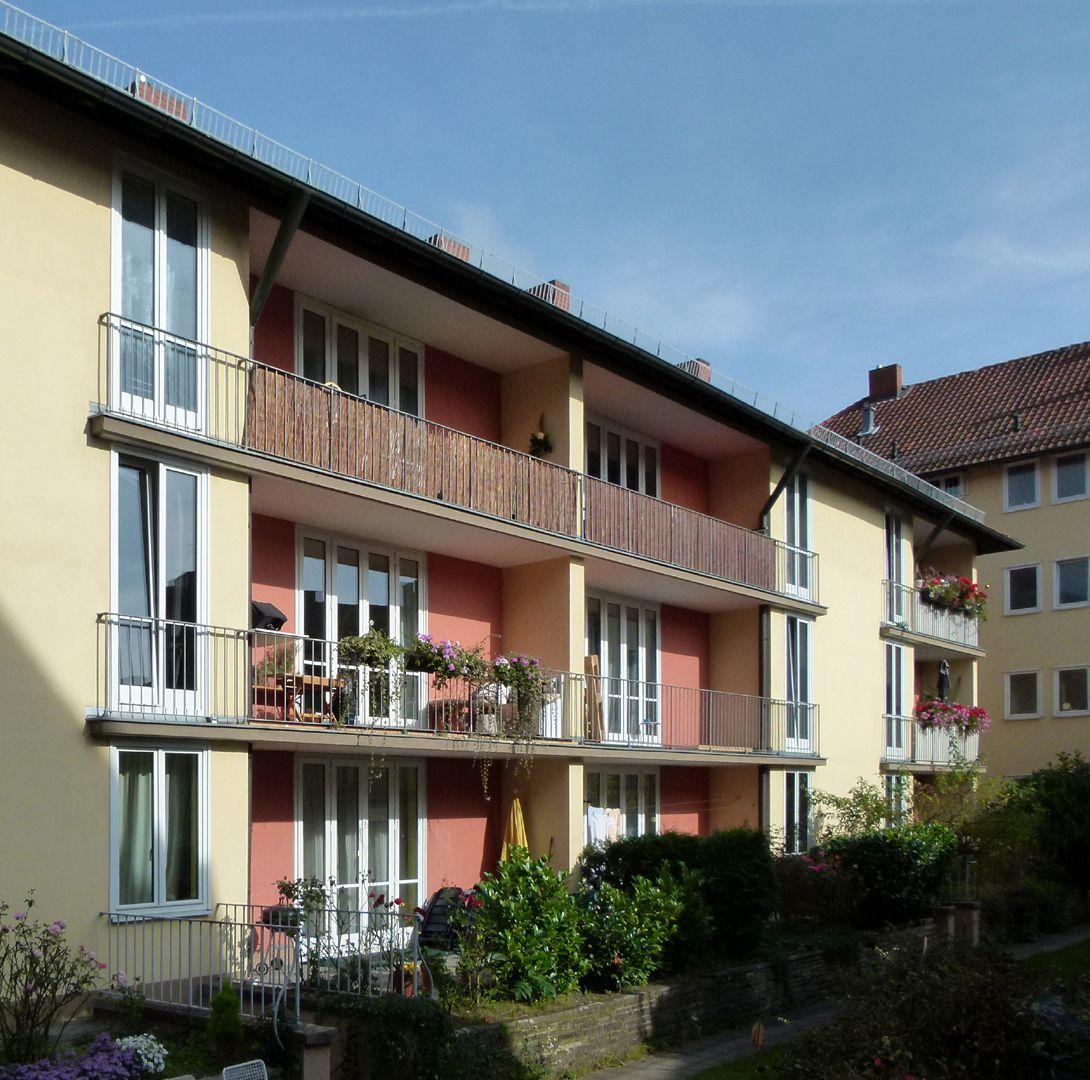 Residential Complex with Saving Bank Branch Inner courtyard, wing at Hirschelgasse