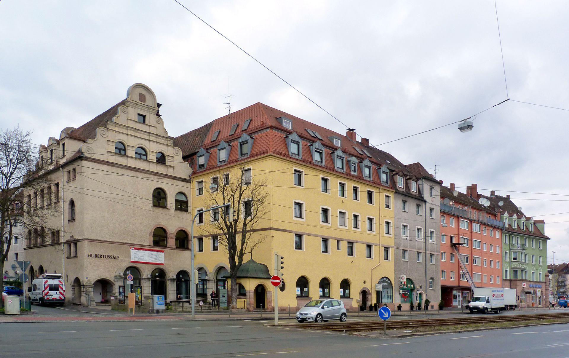 Dianablock Hubertus Hall at Dianastraße