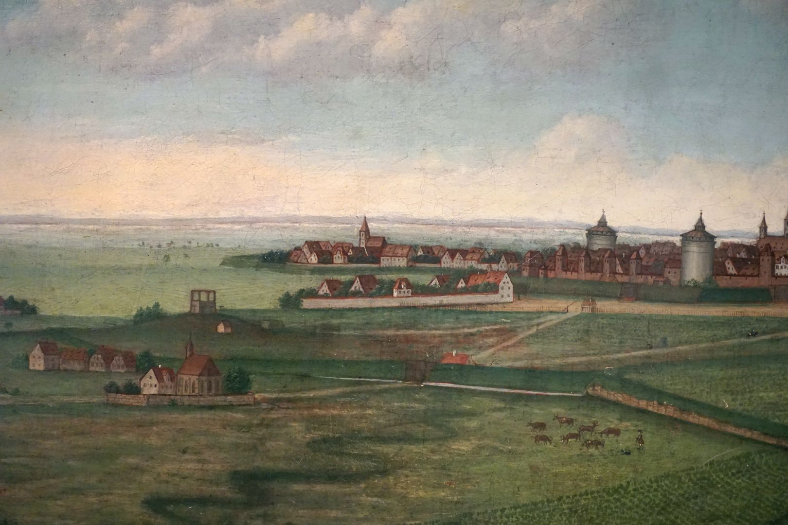 Nuremberg Galgenhof and Sankt Peter in the foreground