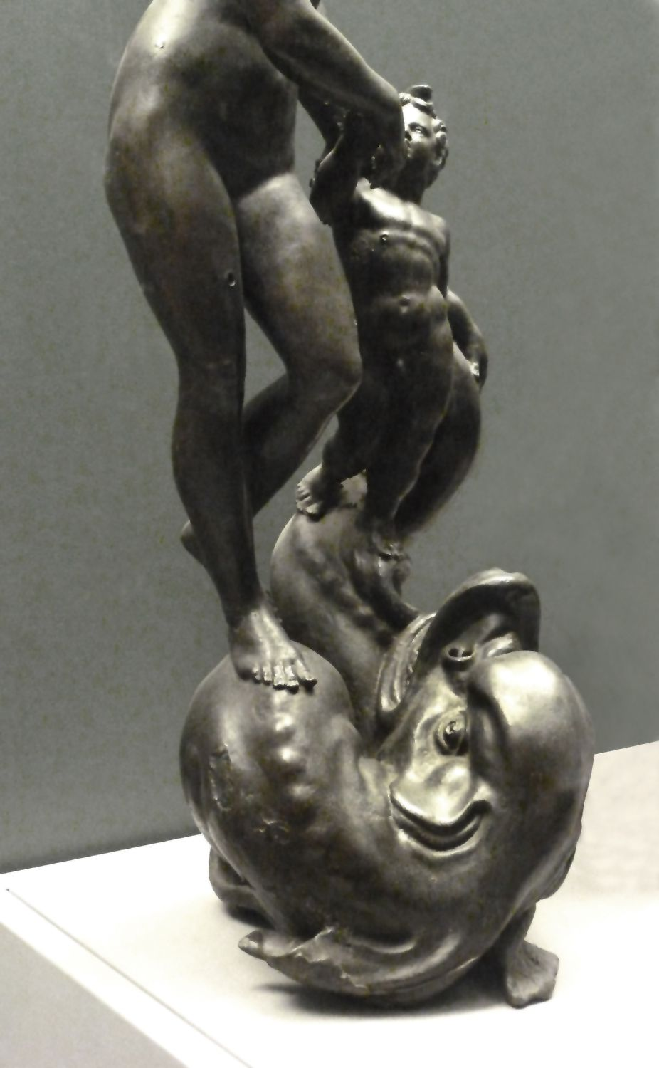 Venus and Putto, standing on a sea creature Lower half