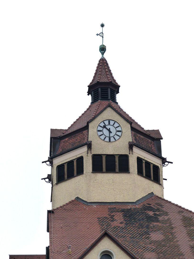 Scharrer-School Clock turret on the boys´ school