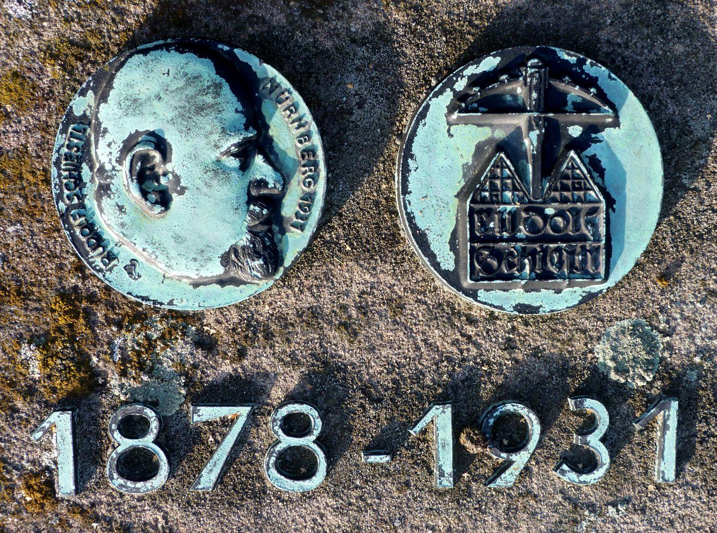 Epitaph Rudolf Schiestl Commemorative plaques