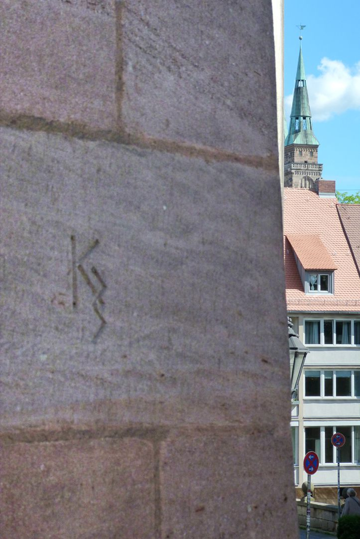 Commercial and residential building Kaiserstraße Masonry brand mark on Kaiserstraße
