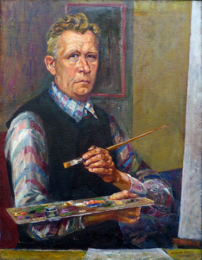 Self-portrait, Hermann Thomas Schmidt Self-portrait