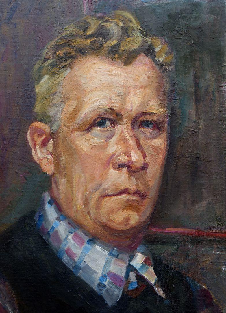 Self-portrait, Hermann Thomas Schmidt Detail